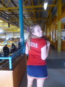 Bonnie at Cheerleading Champs.