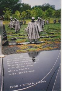 Mark took this photo of a monument to soldiers who served in the Korean war.