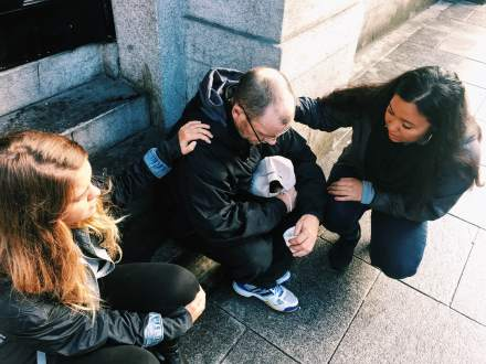Praying for people in Dublin